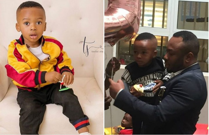 Andre Omotayo Churchill 3rd Birthday: Olakunle Churchill Celebrates Son