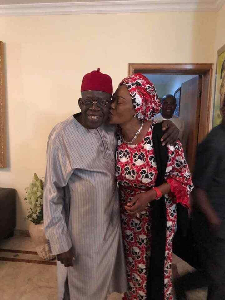 Bola Tinubu Gets Kiss From Wife As They Celebrate Valentine Together. Photos