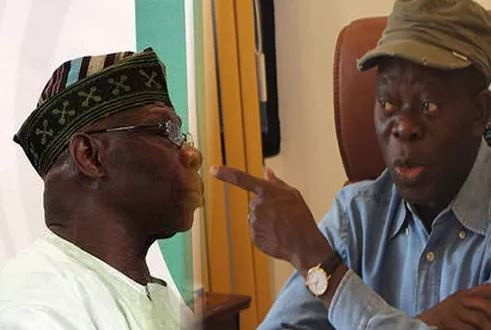 I Have Pictures Of Obasanjo Using Policemen To Snatch Ballot Boxes - Adams Oshiomhole Obasanjo Adams