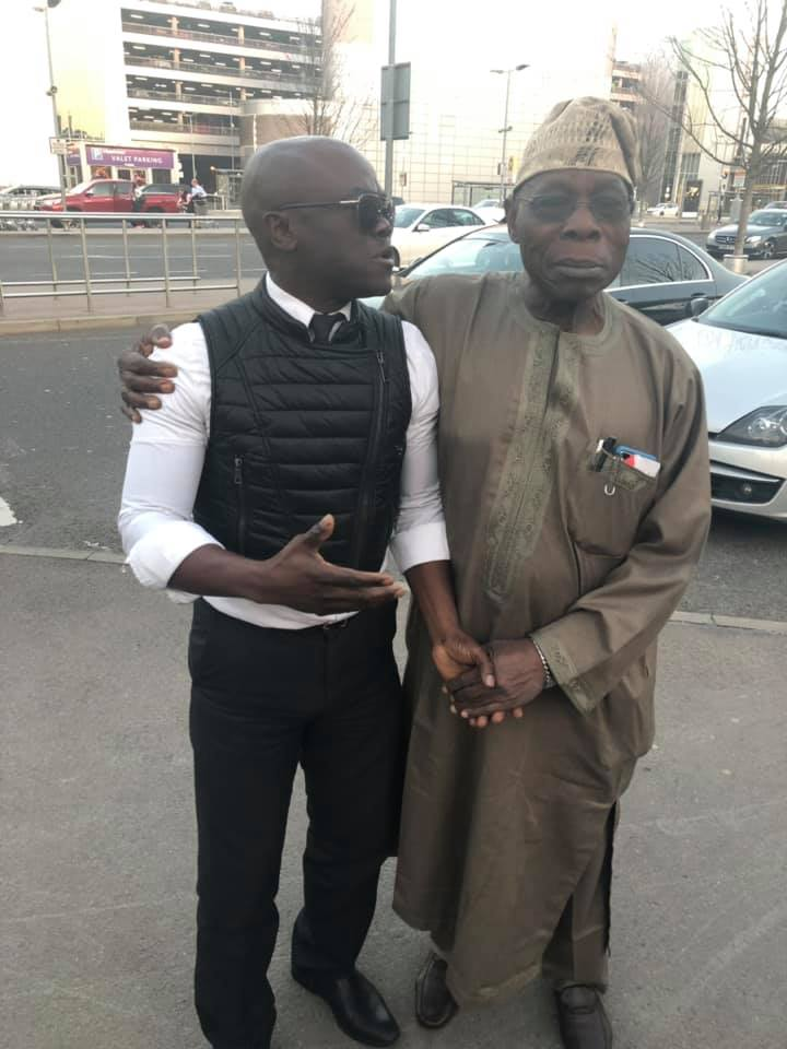 Obasanjo Spotted In London After Buhari's Presidential Election Victory. Photos