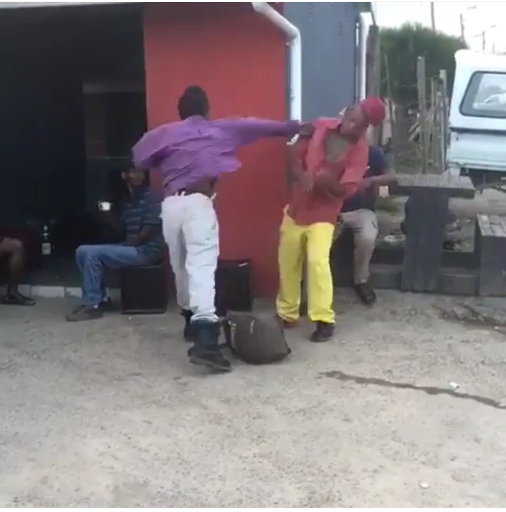 Man Punches His Fellow Man And He Slumped Down(Pics-Video)1