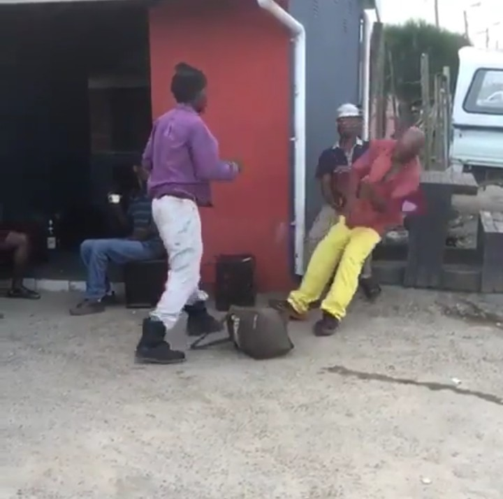 Man Punches His Fellow Man And He Slumped Down(Pics-Video)2