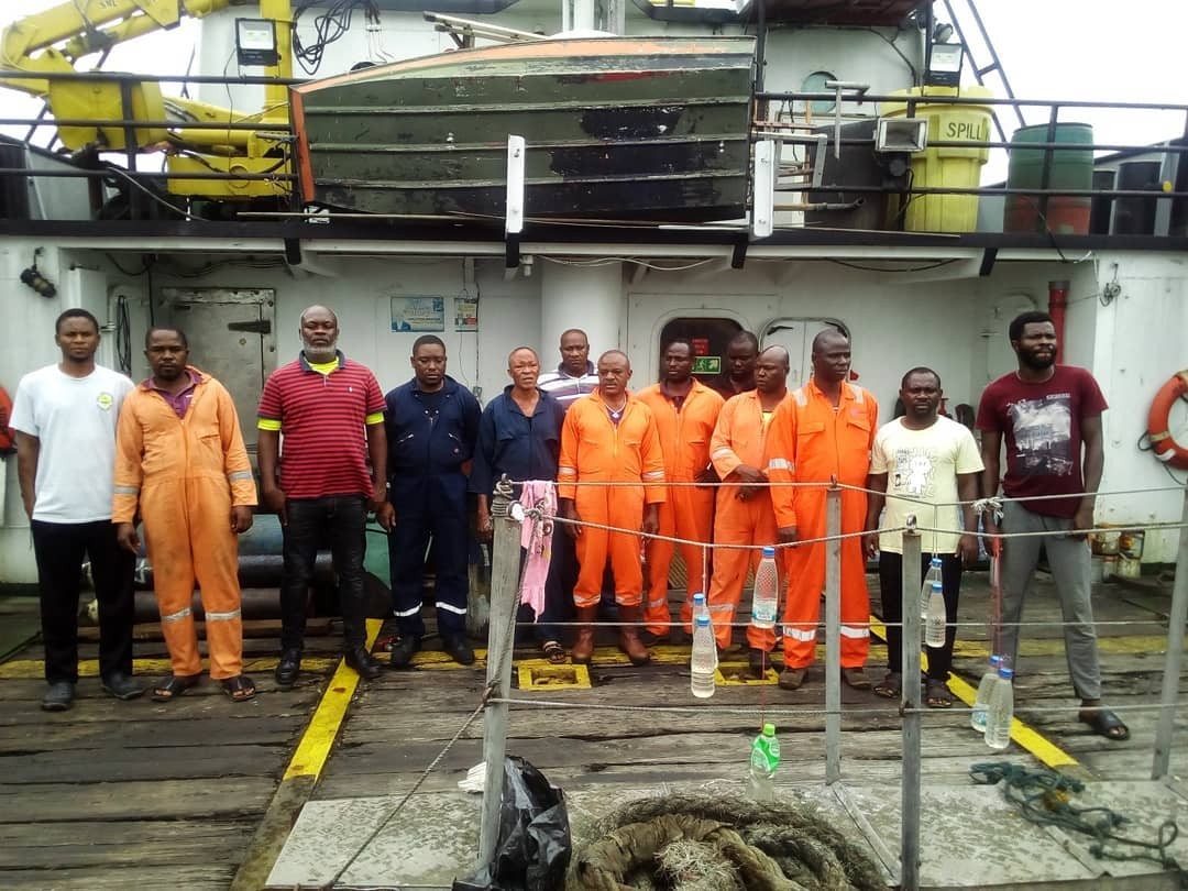 EFCC Takes Custody of Vessel, 13 Suspected Oil Thieves2