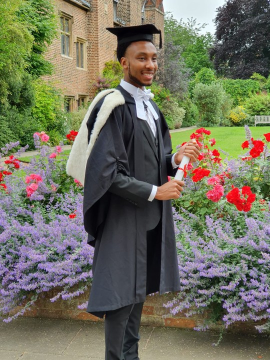 Malcom Ebose, Best Graduating Student Of His Class From Cambridge University UK