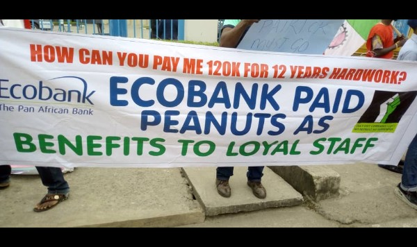 Mass Sack In Ecobank, Sacked Workers Protest (Photos)1