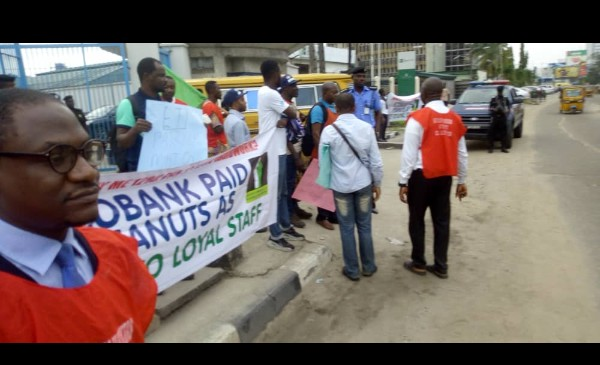 Mass Sack In Ecobank, Sacked Workers Protest (Photos)3