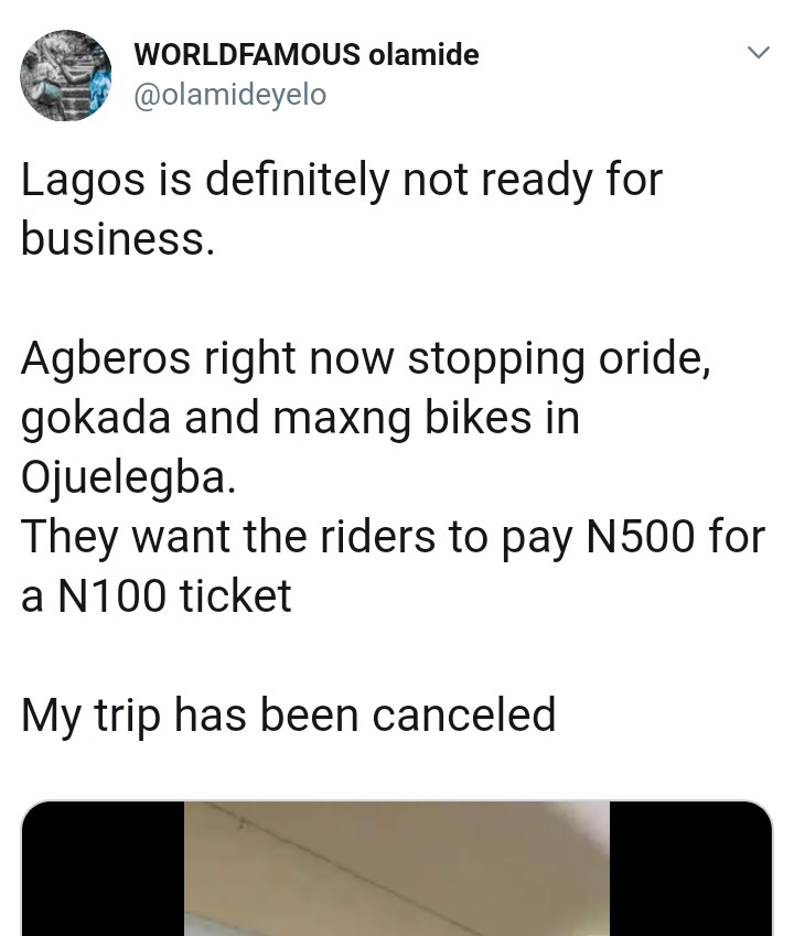 Touts Force Oride, Gokada And Maxng Bikes To Pay N500 For N100 Ticket
